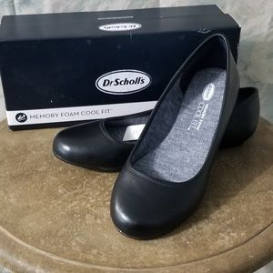 "NIB Dr Scholls ""Friendly"" black ballet shoe sz 8"